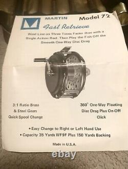 1970 Martin Fly And Reel Fishing Rod Combo