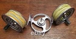2 New Cabela Fly Rods, Reel, Spools, Line 7 8 wt Rio Sharkwave Machined Aluminum