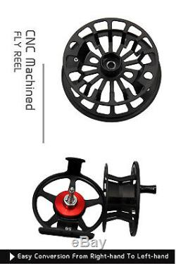 5WT Fly Rod Combo 9FT Carbon Fly Fishing Rod & 5/6WT CNC Machined Fly Reel Line
