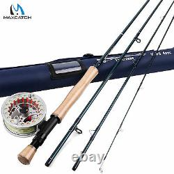 8WT 9FT Fly Rod And Reel Combo Fly Fishing Rod & Pre-spooled Aluminum Fly Reel
