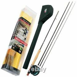 Abu Diplomat Travel Fly Rod Combo Ready To Fish 9ft 7/8 Left Handed 4 Pc