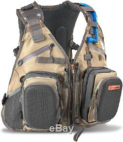 Anglatech Fly Fishing Backpack Vest Combo Chest Pack for Tackle Gear and Water