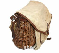Brady The Conway creel willow basket and canvas leather combination fly fishi