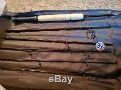 Browning Travel Pack 5 pc Graphite Spin Fly Rod combo w case 7'9 NEW