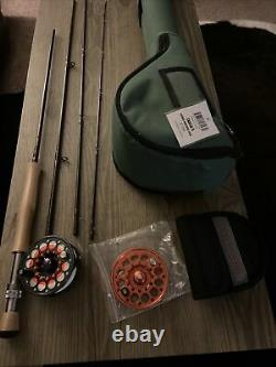 Cabela's Fly Fishing Redington reel extra spool Three Forks 9' NEW Rod with case