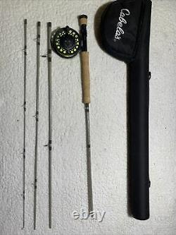 Cabelas Bighorn Fly rod and reel Combo 9- 8 wt - 4 piece EXCELLENT
