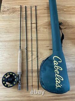 Cabelas RLS Fly Rod Outfit 905-4 9ft 5wt 4 Piece Case, Reel, Line and Backing
