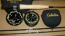 Cabelas fly fish combo rod and 2 reels