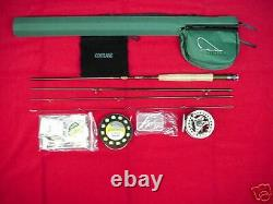 Cortland Fly Rod Outfit Endurance 8 1/2ft #4 Line NEW