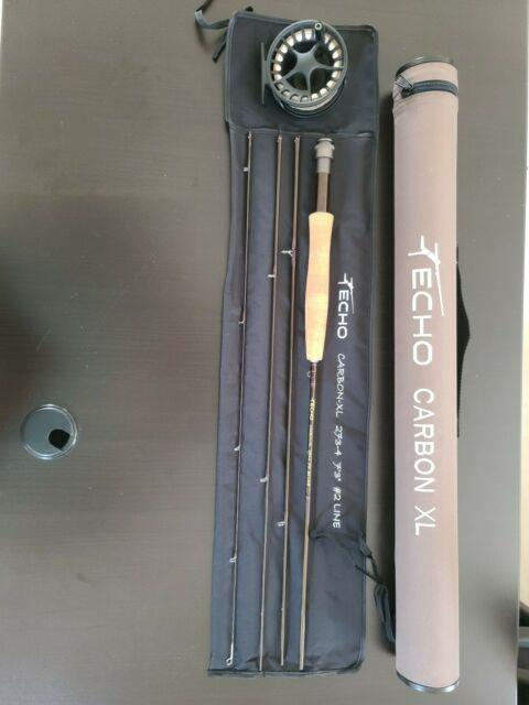 Echo Carbon Xl 7ft3in 2wt Rod With Case, Lamson Liquid Fly Reel, Rio Fly Line