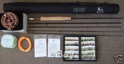 FLY FISHING ROD COMBO STARTER OUTFIT 8ft. LW3/4, 4 SEC