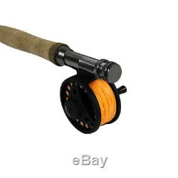 Fly Fishing 9ft Length Graphite Rod Aluminum Reel Fly Box Combo Assorted Flies