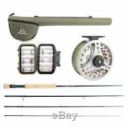 Fly Fishing Combo Kit 3/5/6/8 weight Fly Rod and Reel Outfit Maxcatch Extreme