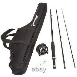 Fly Fishing Combo Reel Rod Starter Cast Set Kit Graphite 8' Pole withCarry Bag New