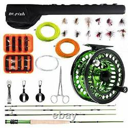 Fly Fishing Outfit Rod and Reel Combo, 4 Pieces 9FT IM8 Carbon Fiber Fly Rod