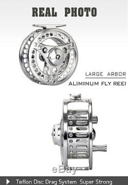 Fly Fishing Rod Combo 3 5 8WT Fly Rod CNC Machined Fly Reel Gold Fly Line