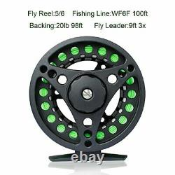 Fly Fishing Rod and Reel Combo 4-Piece Fly Fishing Rod 5wt Aluminum Fly Reel 28