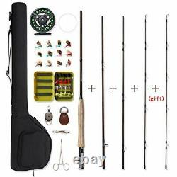 Fly Fishing Rod and Reel Combo 4-Piece Fly Fishing Rod Fly Fishing Full Kit