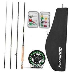 Fly Fishing Rod and Reel Combo, 4 Piece Lightweight 5 Wt -9' Fly Rod, 5/6 Reel