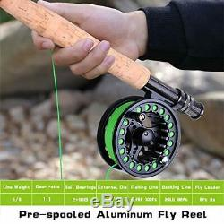 Fly Fishing Rod and Reel Combo, 4 Piece Lightweight Ultra-Portable Graphite