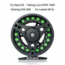 Fly Fishing Rod and Reel Combo, Lightweight Full Kit with Waterproof Fly Box