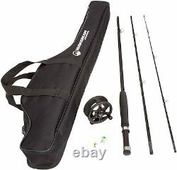 Fly Fishing Rod and Reel Combo Line, Flies, Carrying Case Included