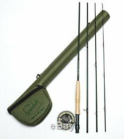 Fly-fishing Combination 4pieces Package with Graphite Fly-rod