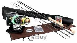 Goture Fly Fishing Rod and Reel Combos Kit 5/6 7/8 with Fishing Flies Line Ro
