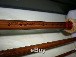 Heddon Combo Thorobred Bamboo Fly Rod#14 9' 3PC. DT-6-7w 2-3/4 F. 310Reel/Box+Case