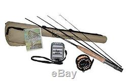 K&E Outfitters Drift Series 3wt Fly Fishing Trout Rod and Reel Combo Package
