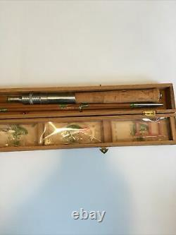 K-S Japan Bamboo Fly Rod Combination in Box And Accessory