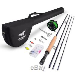 KastKing Emergence Fly Fishing Combo 4 Piece Graphite Fly Fishing Rod, Fly and