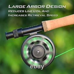 KastKing Emergence Fly Fishing Combo, 4 Wt, 8ft 6in, Half Handle, Rod 8+1,3 or 4