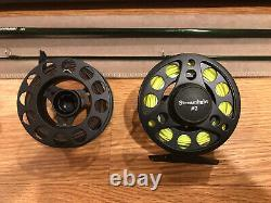 L. L. Bean Fly Rod Bass Outfit 9 8WT Streamlight With Spare Spool And Lines