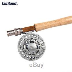 Lightweight Portable Fly Fishing Rod Combos with Line CNC-machined Reel Packages