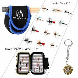 M MAXIMUMCATCH Maxcatch Extreme Fly Fishing Combo Kit 6 Weight Fly Rod and Re