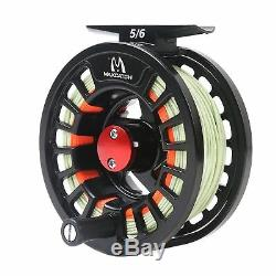 Maxcatch 5/6WT Travel Fly Fishing Combo, 9FT 7Piece Fly Rod, Fly Reel, Line Outfit