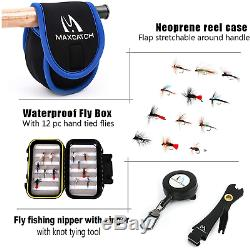 Maxcatch Extreme Fly Fishing Combo Kit 3/5/6/8 Weight, Starter Fly Fishing Set