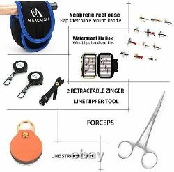 Maxcatch Extreme Fly Fishing Combo Kit 5/6/7/8 Weight, Fly Rod and Reel Outfit