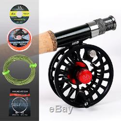 Maxcatch Premier Fly Fishing Rod Reel Combo Complete 9' Fishing Outfit Kits