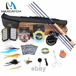 Maxcatch Saltwater Fly Rod and Reel Combo Full Kit 9FT Fishing Complete Outfit