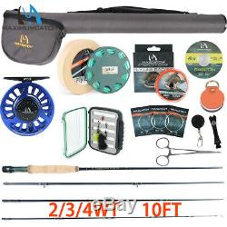 MaximumCatch Performance Nymph Fly Rod Kit 2/3/4wt Complete Fishing Outfit 10FT