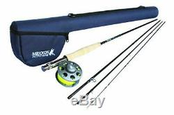 Maxxon Stone Fly Rod and Reel Combo 4-Piece, Loaded Diecast (9', 5 Weight)