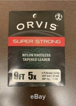 NEW Orvis Fly Rod & Reel Combo 9' 8wt 908-4pc Large Arbor IV & Fly Line & Leader