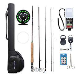 NetAngler Fly Fishing Rod and Reel Combo, Lightweight Portable 4-Piece Fly Rod