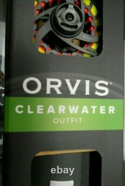 ORVIS CLEARWATER FLY FISHING OUTFIT 908-4 9' 8 Wt. 4 PIECE ROD