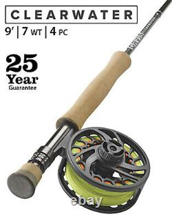 ORVIS CLEARWATER FLY ROD OUTFIT 7wt. 9ft. 4pcs. (Rod Reel Line Backing)