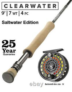 ORVIS CLEARWATER FLY ROD OUTFIT. SALTWATER 7wt. 9ft. 4pcs. (907-4)