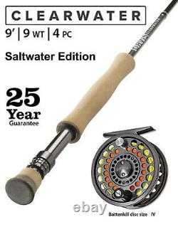 ORVIS CLEARWATER ROD COMBO-OUTFIT 9wt-9ft-4pc. SALTWATER EDITION