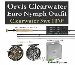 Orvis Clearwater 3wt 10'0 Nymph Outfit Package Hydros Nymph Line, Battenkill